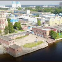 Продажа земельного участка (2223 кв.м) с 2мя зданиями (435,5+405,2 кв.м), Октябрьская Набережная, д.15